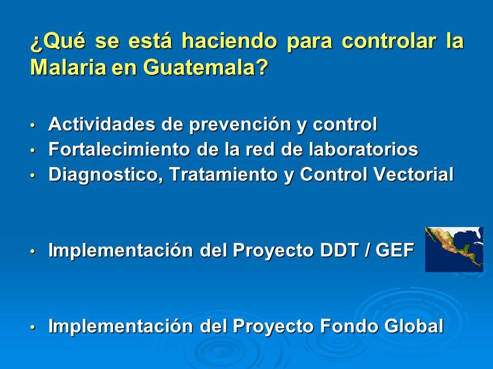 ¿Qué se está haciendo para controlar la Malaria en Guatemala