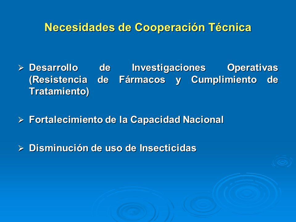 Necesidades de Cooperación Técnica