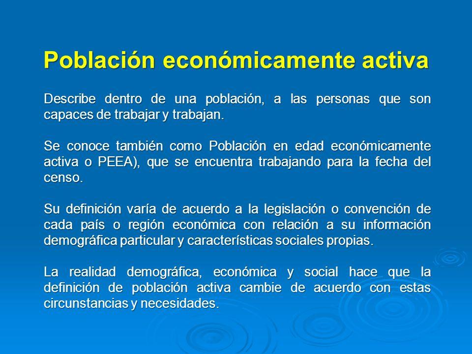 Población económicamente activa