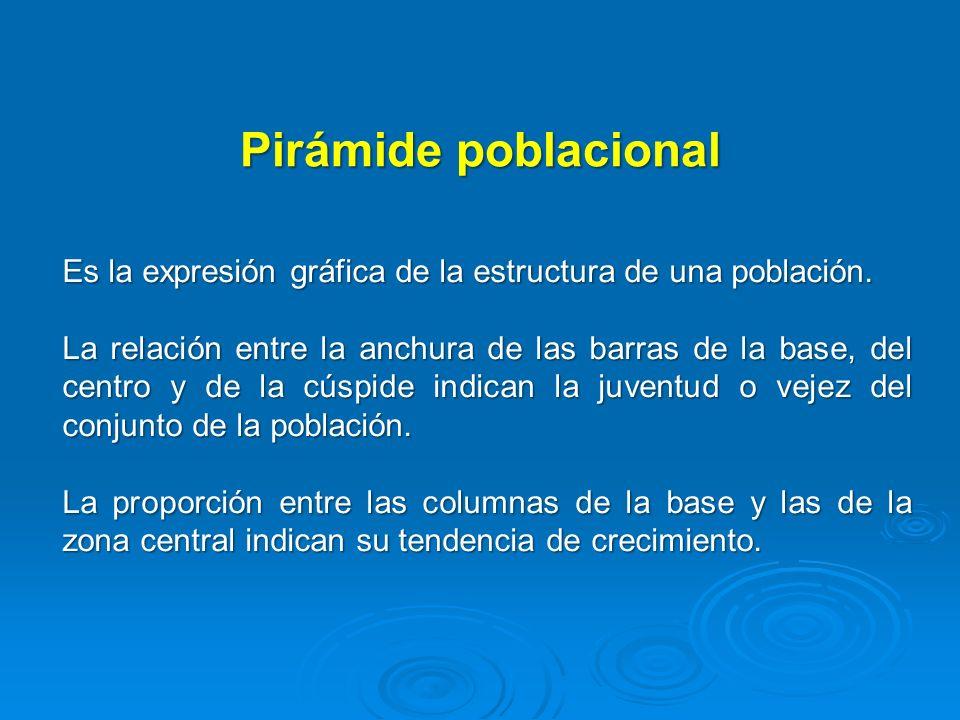 Pirámide poblacional Es la expresión gráfica de la estructura de una población.