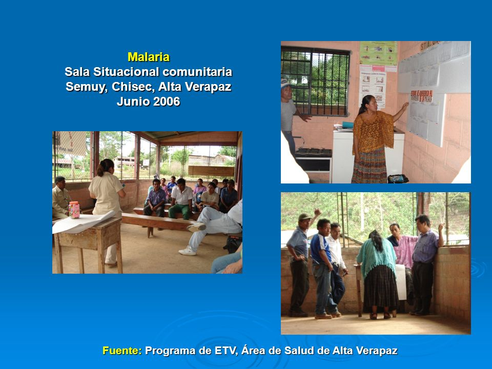 Sala Situacional comunitaria Semuy, Chisec, Alta Verapaz Junio 2006
