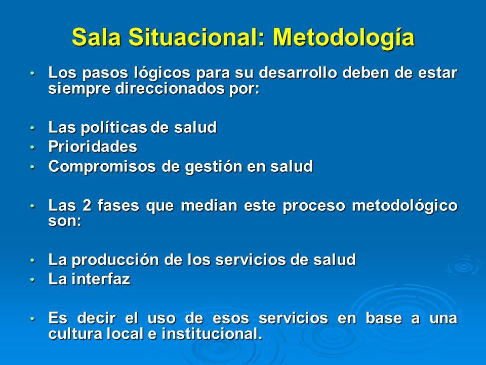 Sala Situacional: Metodología