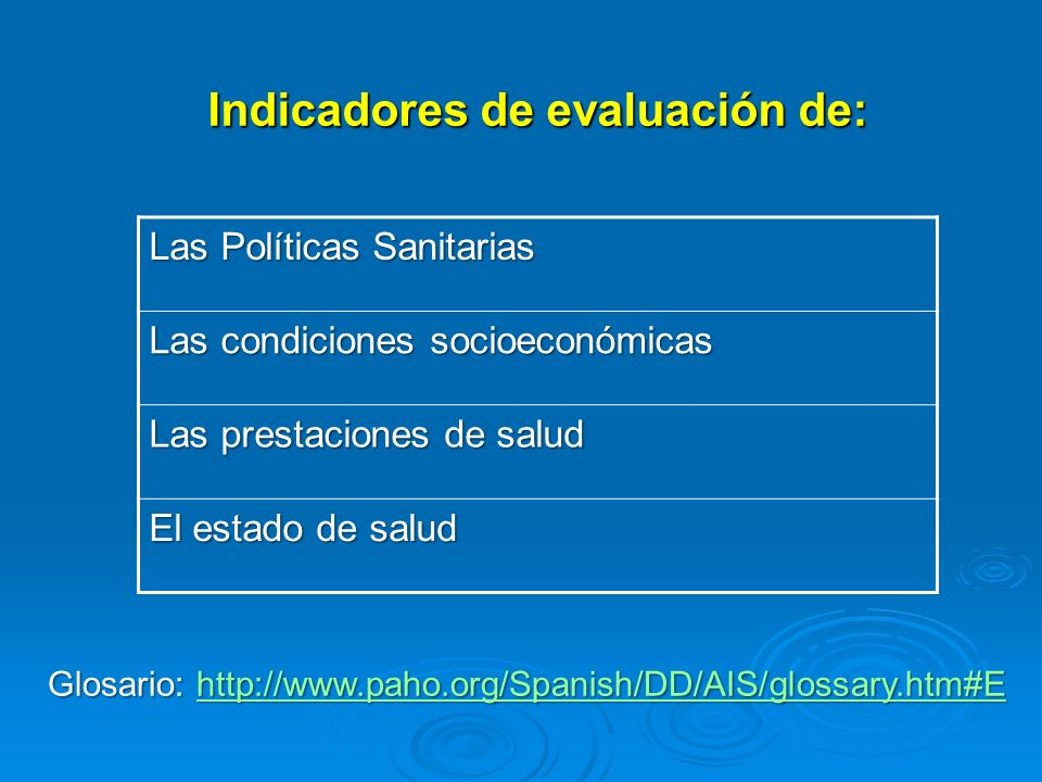 Indicadores de evaluación de: