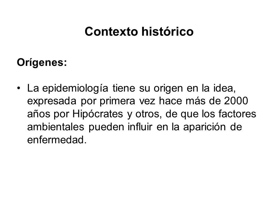 Contexto histórico Orígenes: