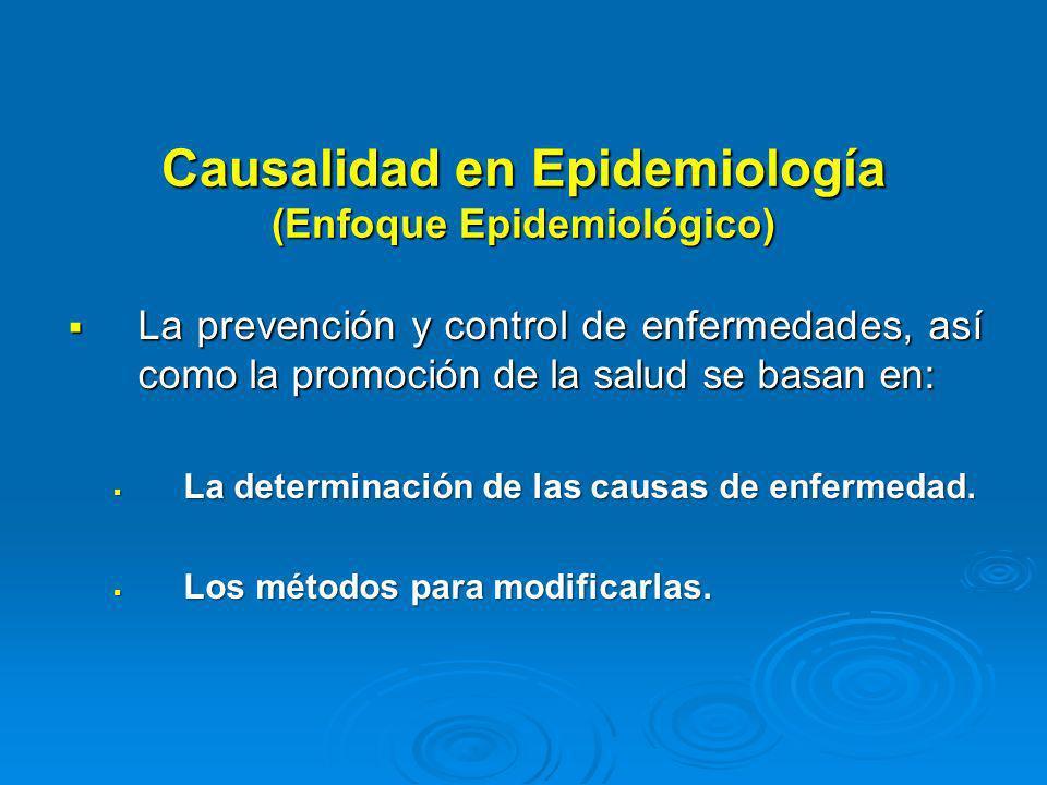 Causalidad en Epidemiología (Enfoque Epidemiológico)