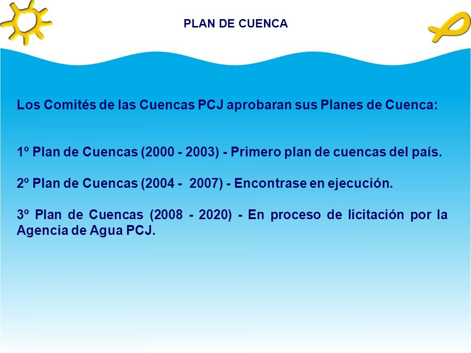Los Comités de las Cuencas PCJ aprobaran sus Planes de Cuenca: