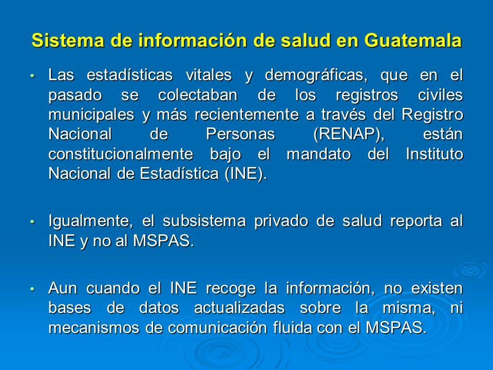 Sistema de información de salud en Guatemala