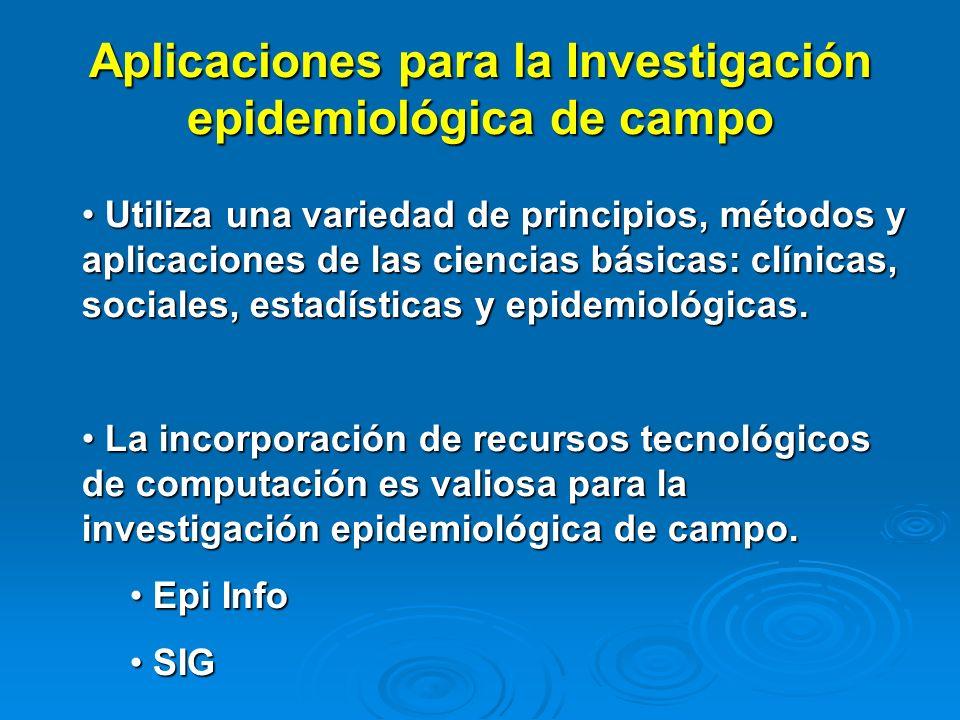 Aplicaciones para la Investigación epidemiológica de campo