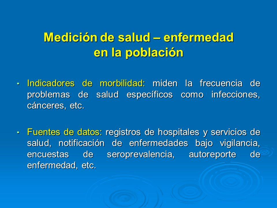 Medición de salud – enfermedad en la población