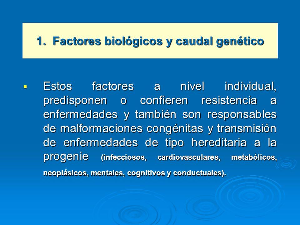 1. Factores biológicos y caudal genético