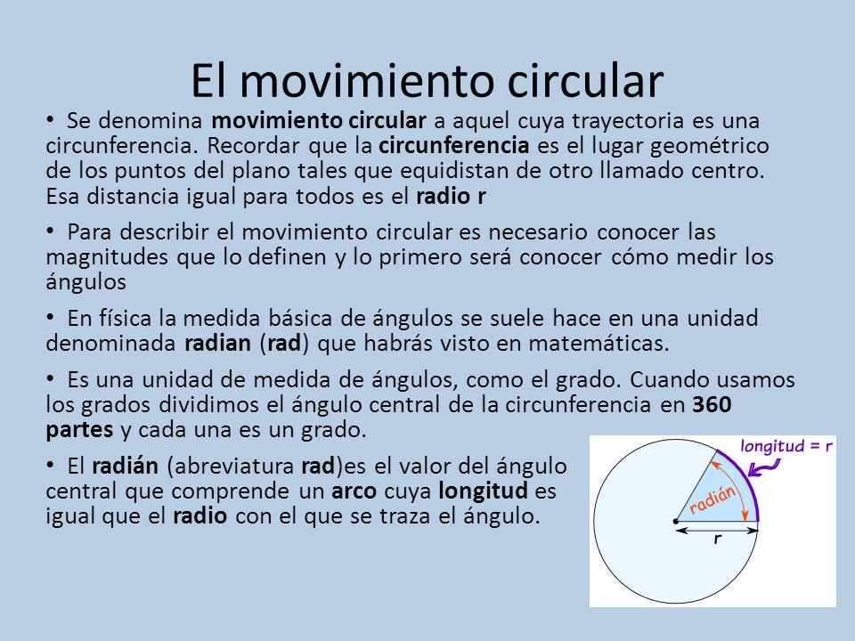 El movimiento circular