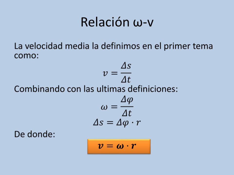 Relación ω-v