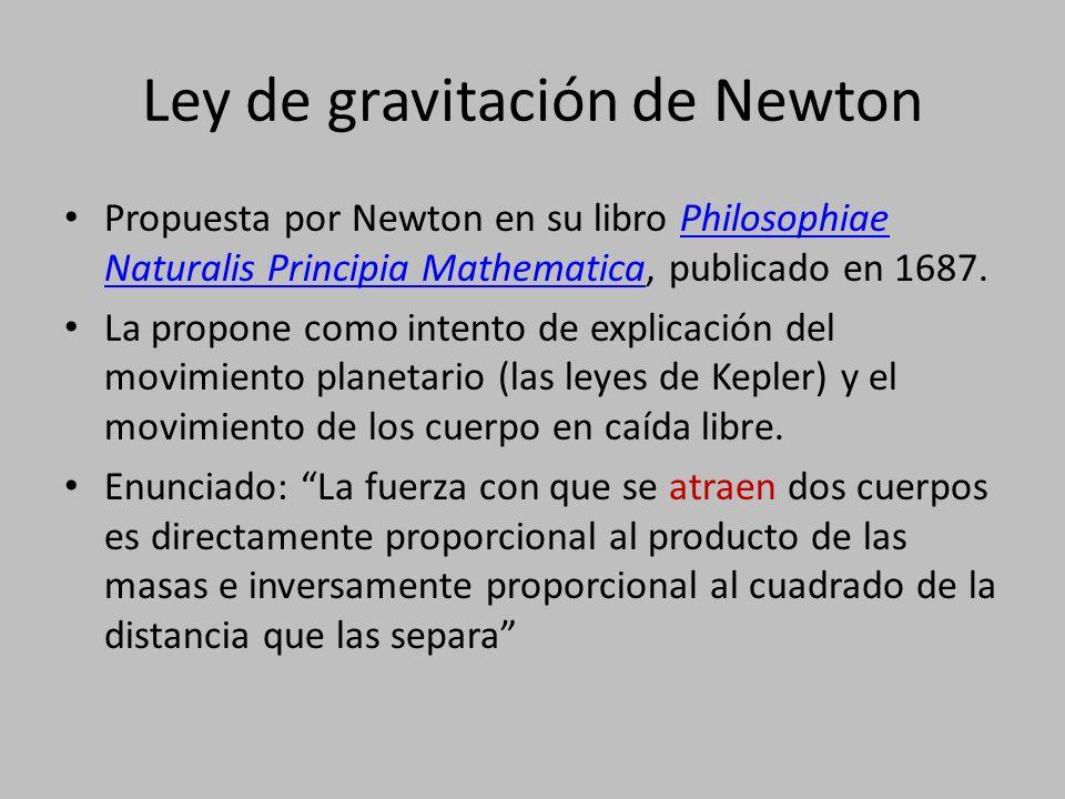 Ley de gravitación de Newton