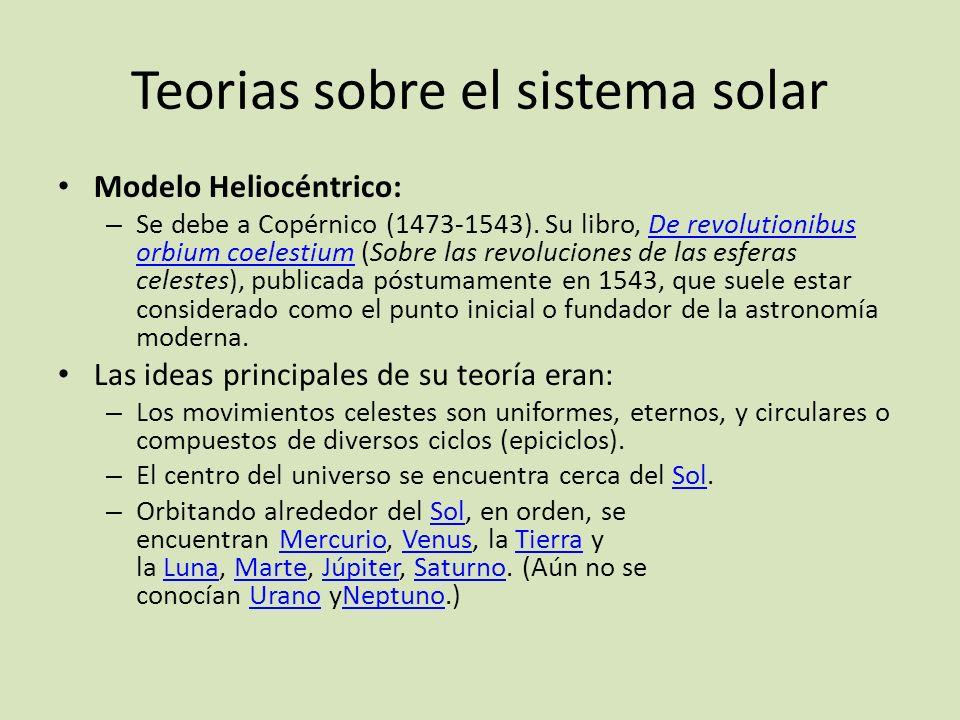 Teorias sobre el sistema solar