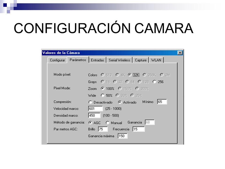 CONFIGURACIÓN CAMARA