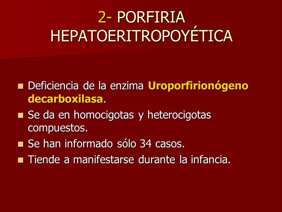 2- PORFIRIA HEPATOERITROPOYÉTICA
