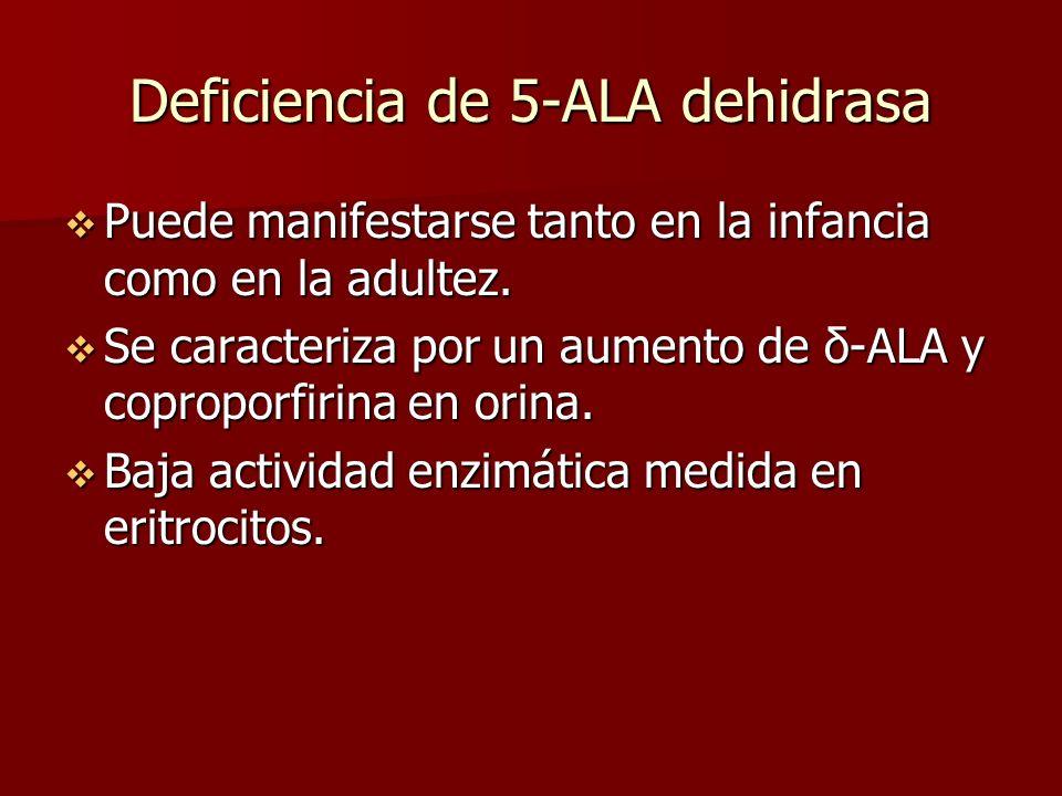 Deficiencia de 5-ALA dehidrasa