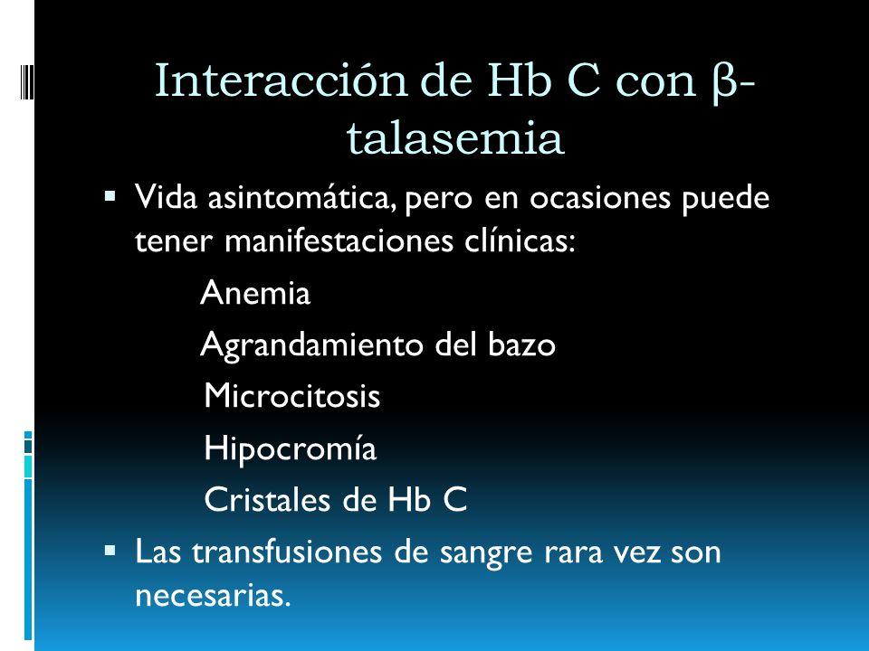 Interacción de Hb C con β-talasemia