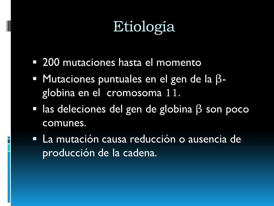 Etiología 200 mutaciones hasta el momento