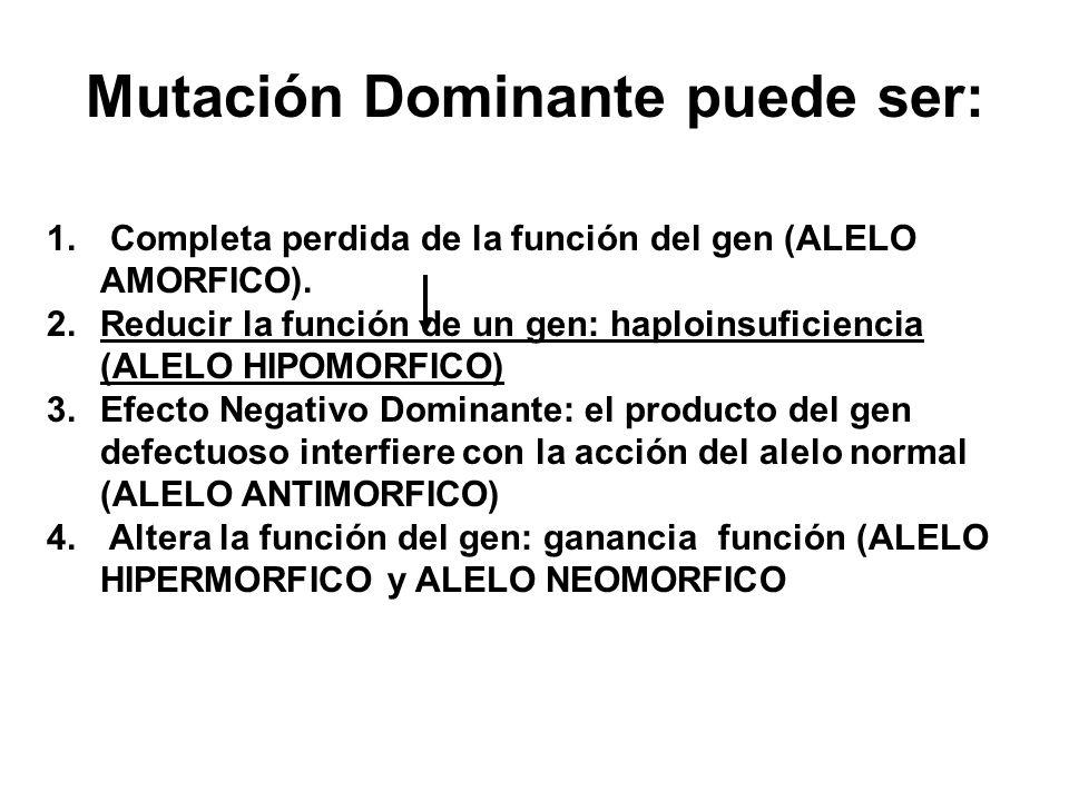 Mutación Dominante puede ser:
