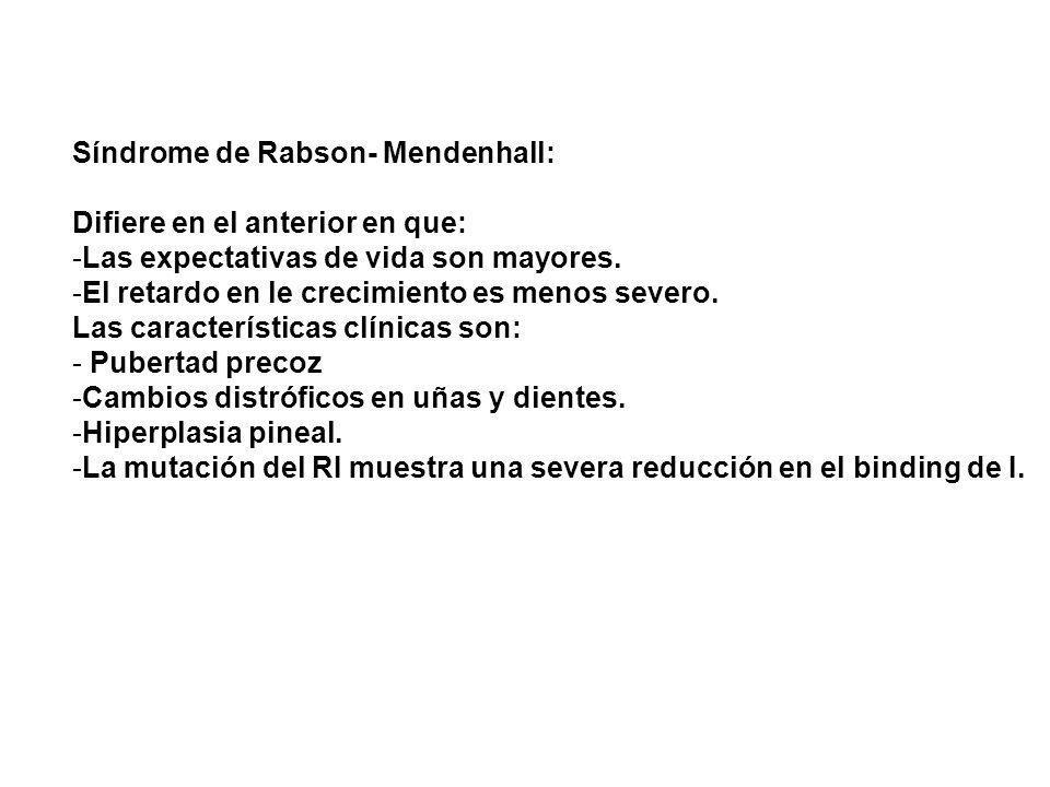 Síndrome de Rabson- Mendenhall: