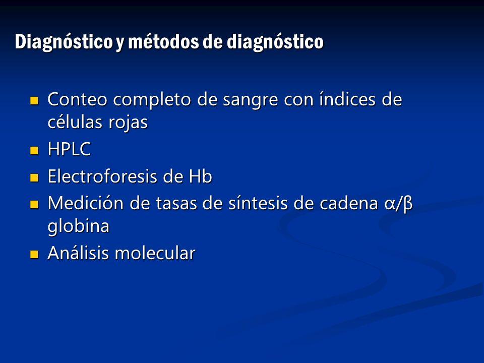 Diagnóstico y métodos de diagnóstico