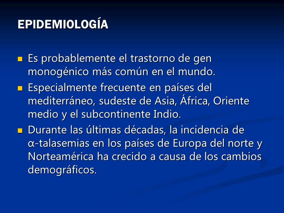 EPIDEMIOLOGÍA Es probablemente el trastorno de gen monogénico más común en el mundo.
