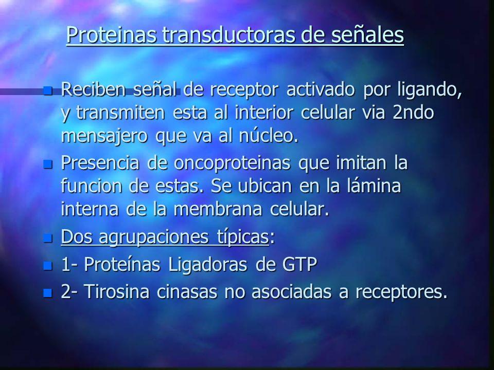 Proteinas transductoras de señales