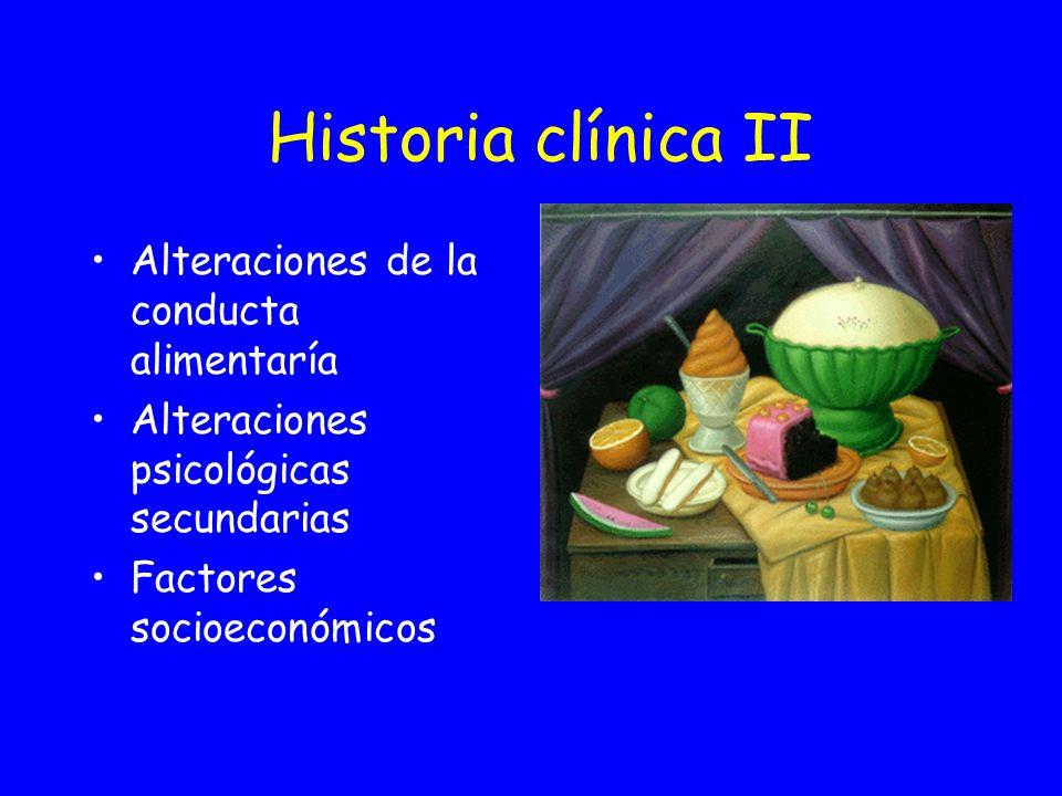 Historia clínica II Alteraciones de la conducta alimentaría