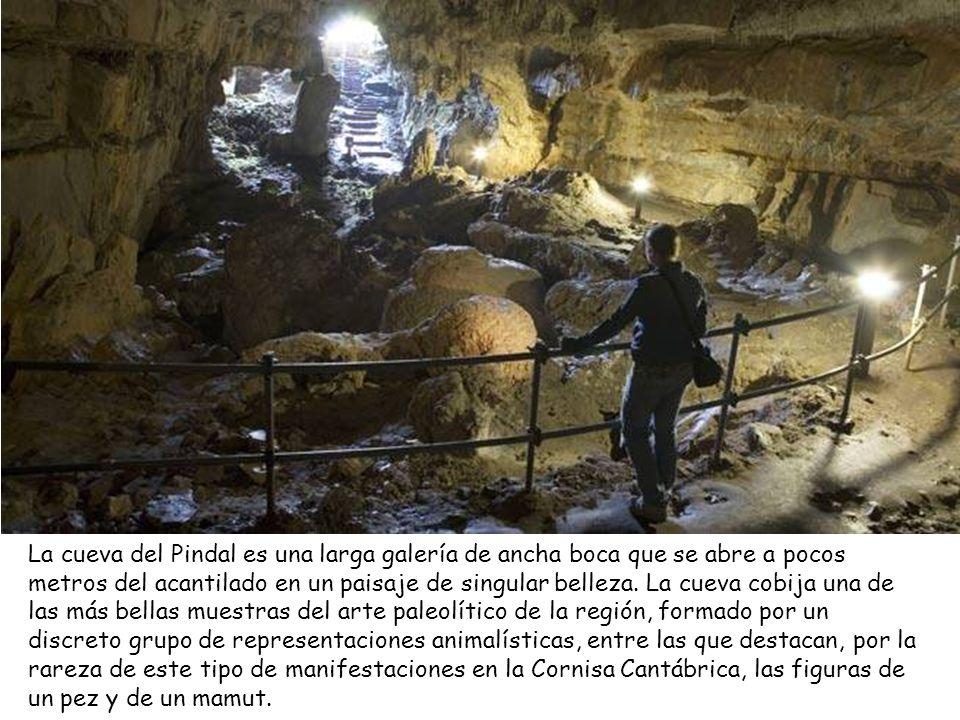 La cueva del Pindal es una larga galería de ancha boca que se abre a pocos metros del acantilado en un paisaje de singular belleza.