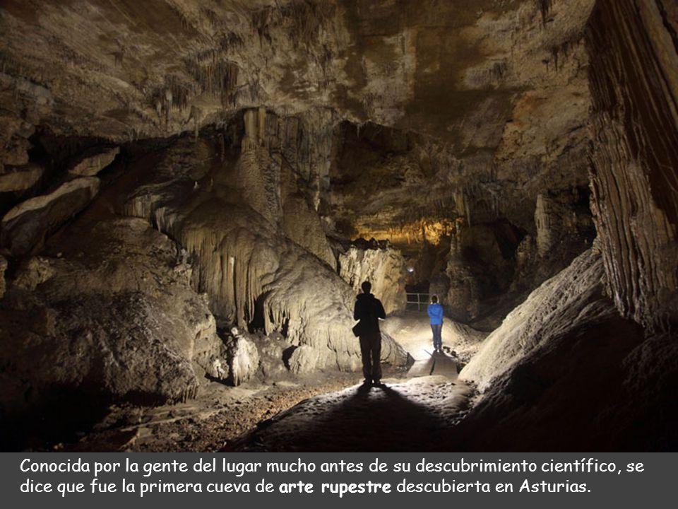 Conocida por la gente del lugar mucho antes de su descubrimiento científico, se dice que fue la primera cueva de arte rupestre descubierta en Asturias.
