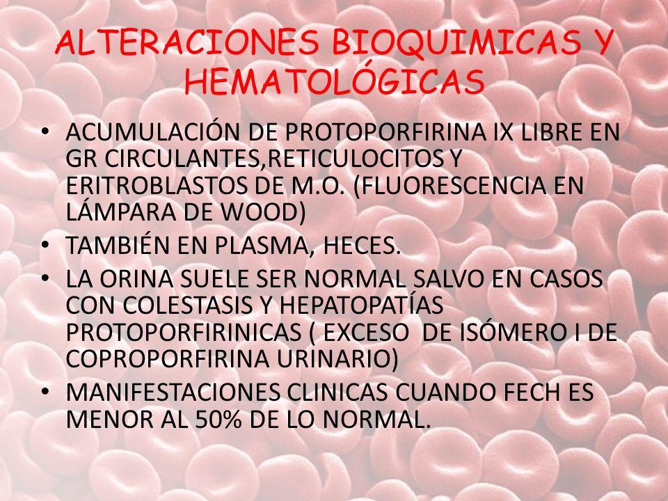 ALTERACIONES BIOQUIMICAS Y HEMATOLÓGICAS