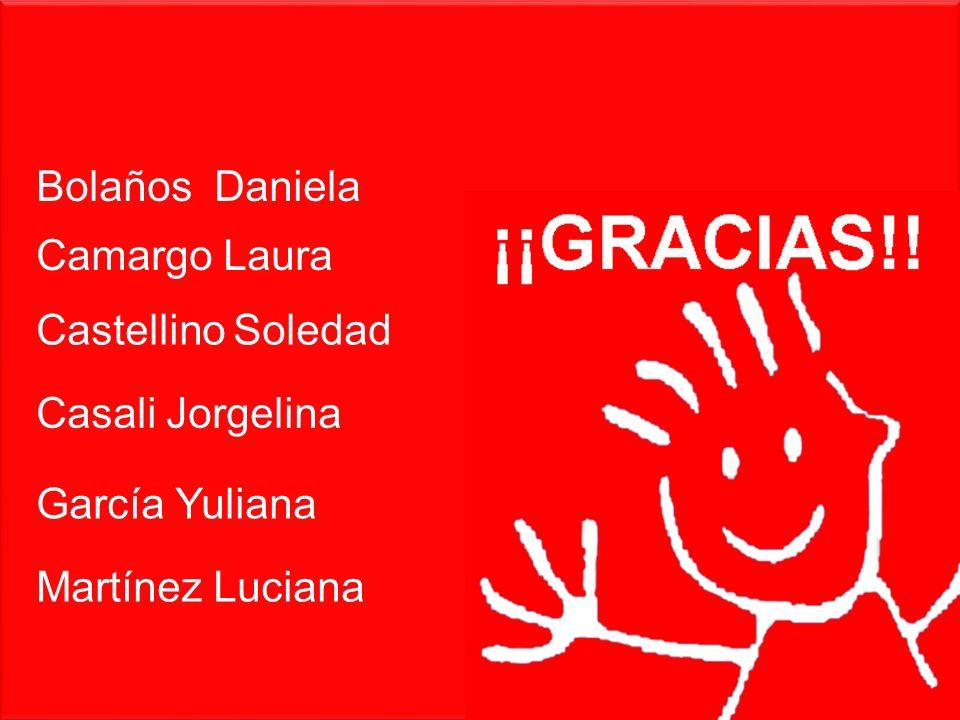 Bolaños Daniela Camargo Laura Castellino Soledad Casali Jorgelina García Yuliana Martínez Luciana