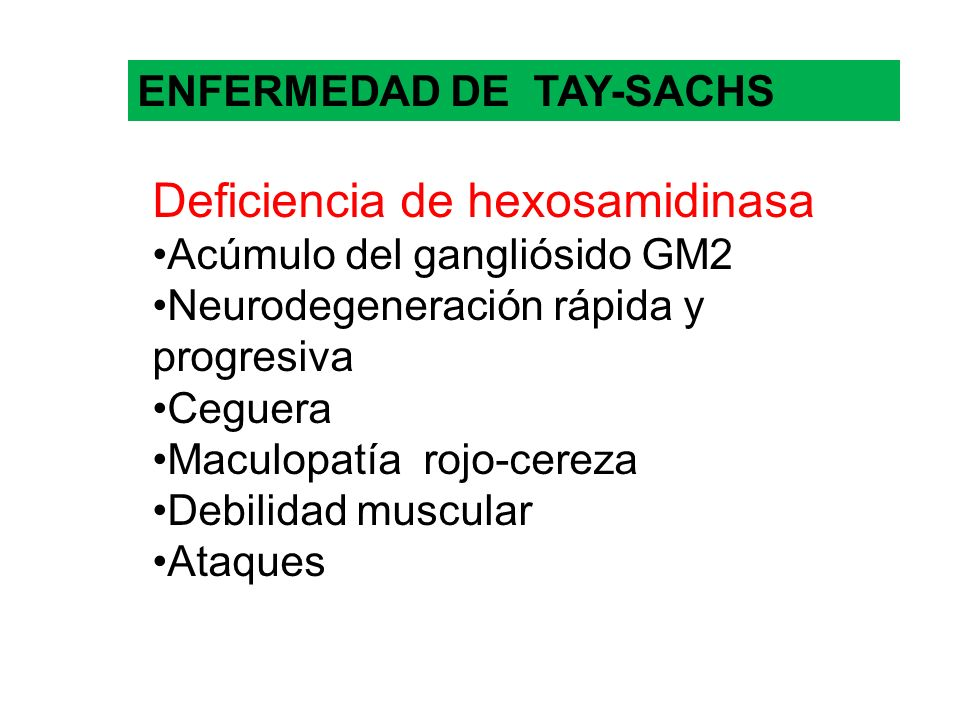 Deficiencia de hexosamidinasa