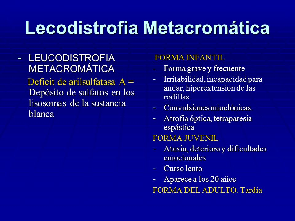 Lecodistrofia Metacromática