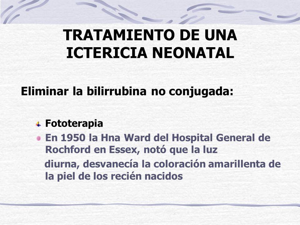 TRATAMIENTO DE UNA ICTERICIA NEONATAL