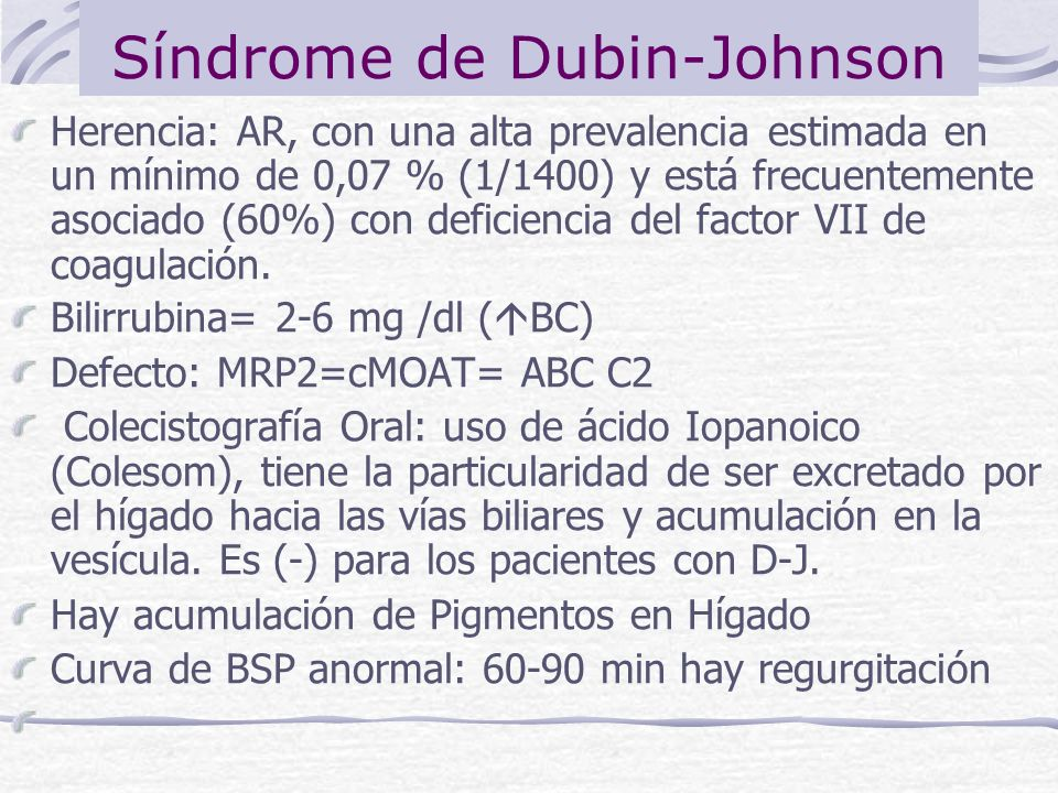 Síndrome de Dubin-Johnson
