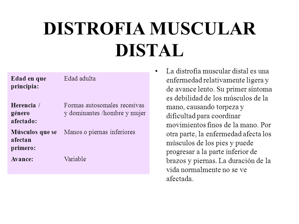 DISTROFIA MUSCULAR DISTAL