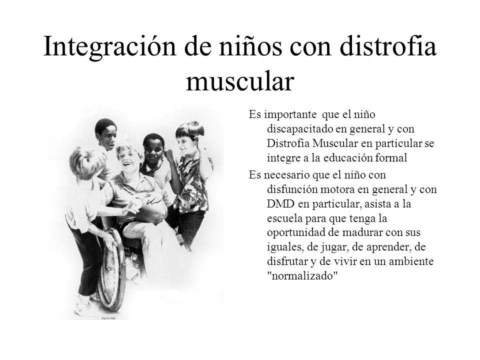 Integración de niños con distrofia muscular