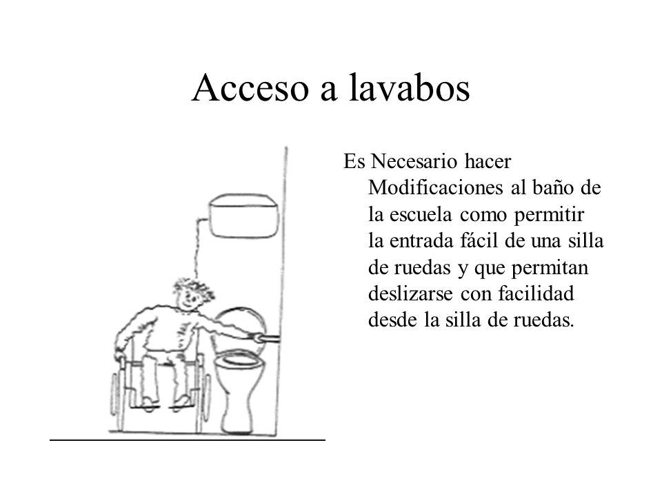 Acceso a lavabos