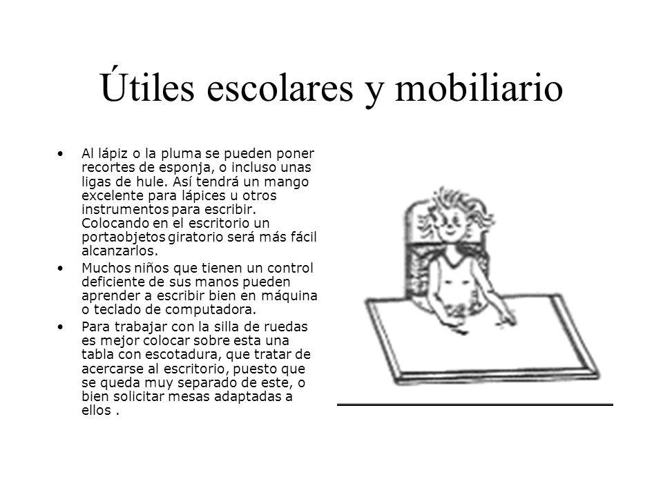 Útiles escolares y mobiliario