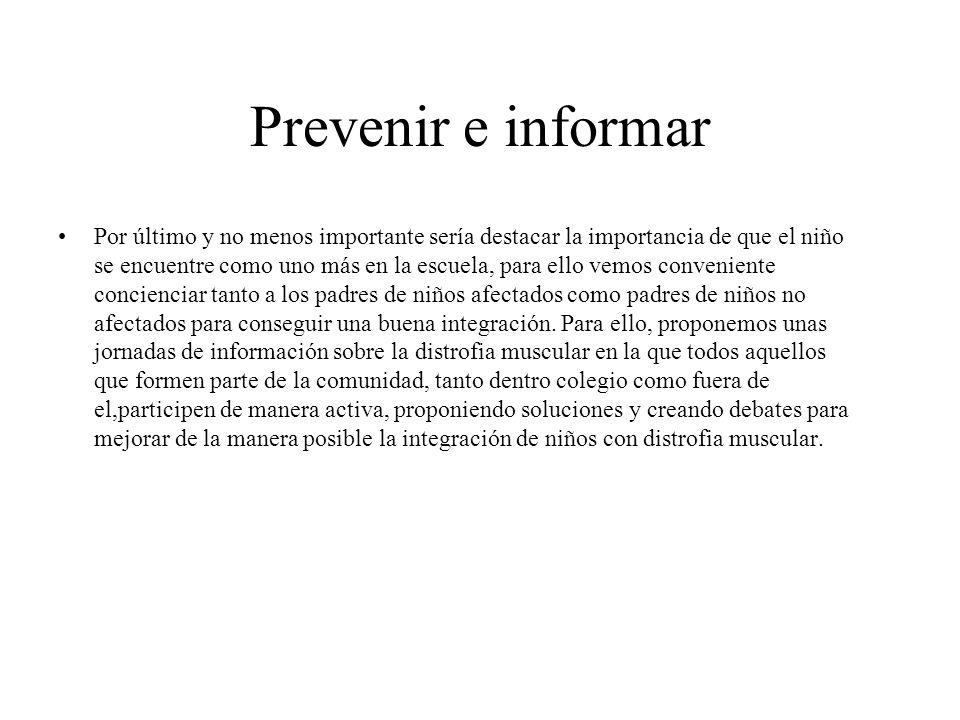 Prevenir e informar