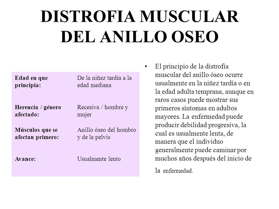 DISTROFIA MUSCULAR DEL ANILLO OSEO
