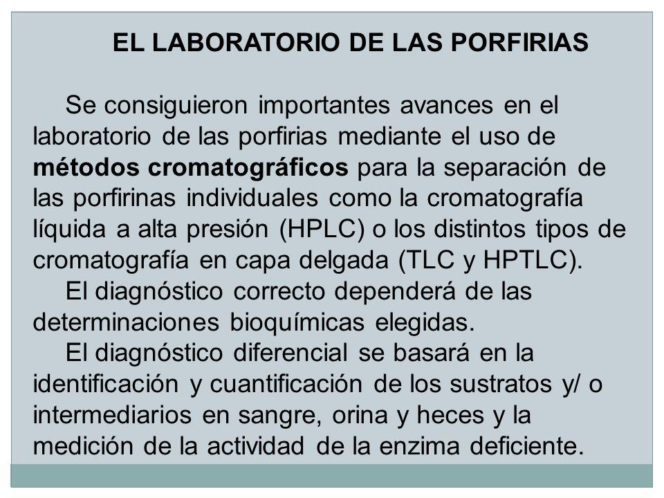 EL LABORATORIO DE LAS PORFIRIAS