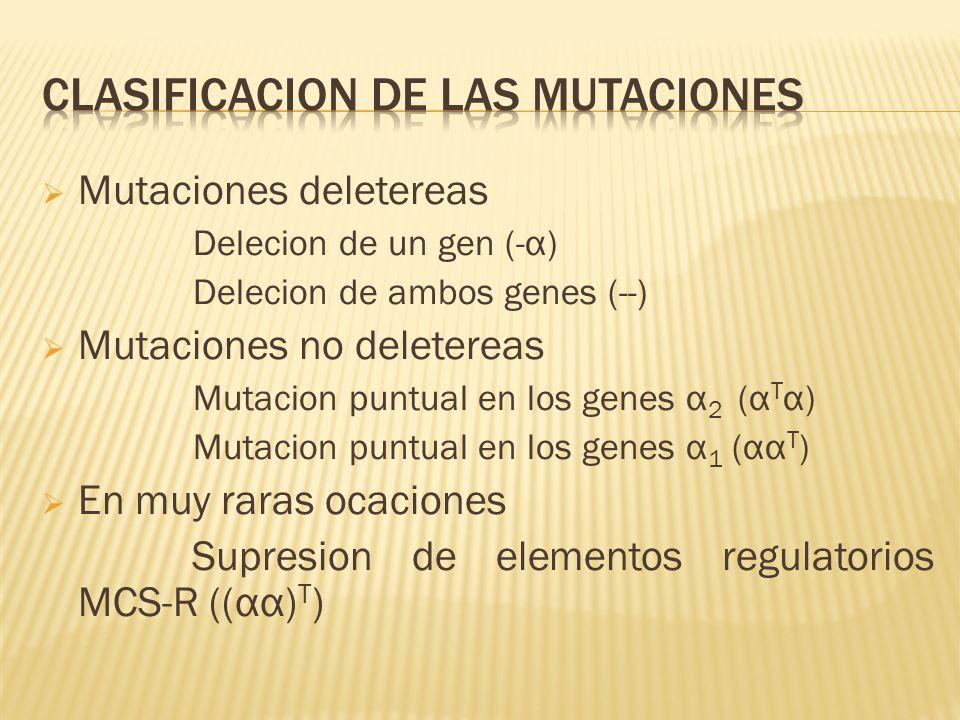 Clasificacion de las mutaciones