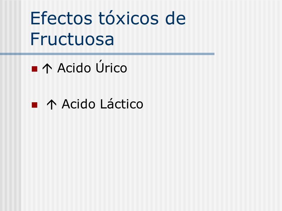 Efectos tóxicos de Fructuosa