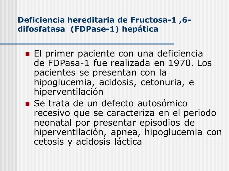 Deficiencia hereditaria de Fructosa-1 ,6-difosfatasa (FDPase-1) hepática