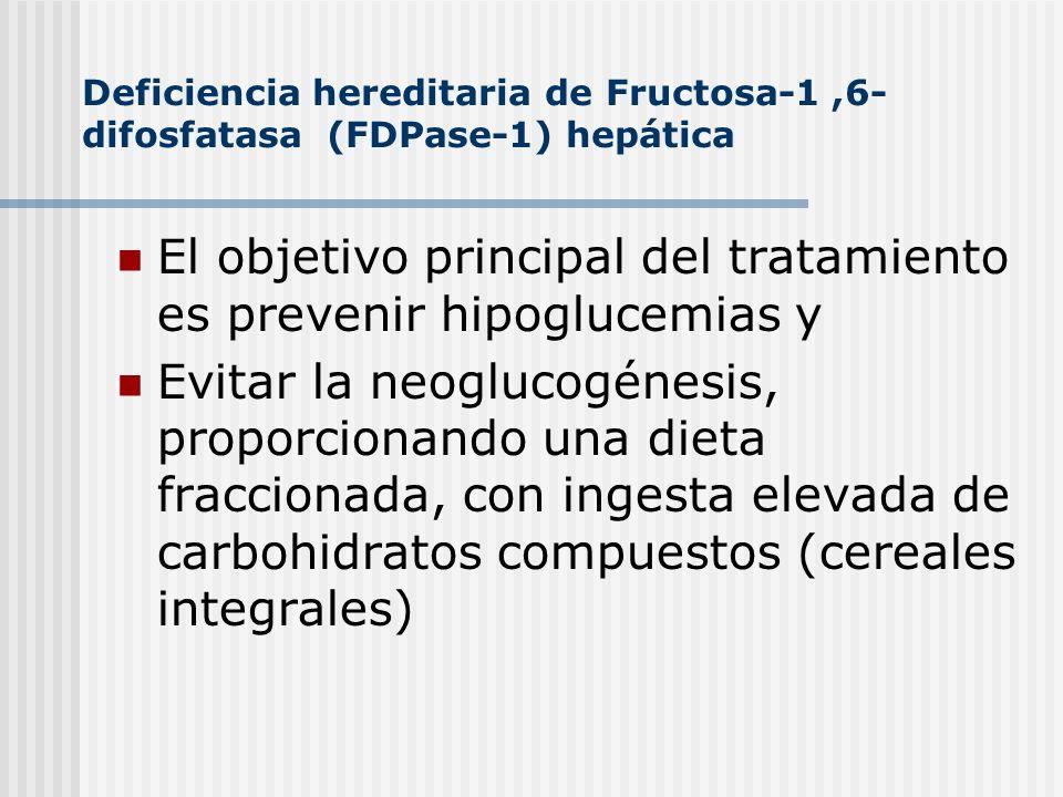 El objetivo principal del tratamiento es prevenir hipoglucemias y