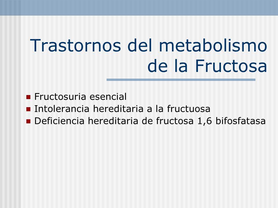 Trastornos del metabolismo de la Fructosa