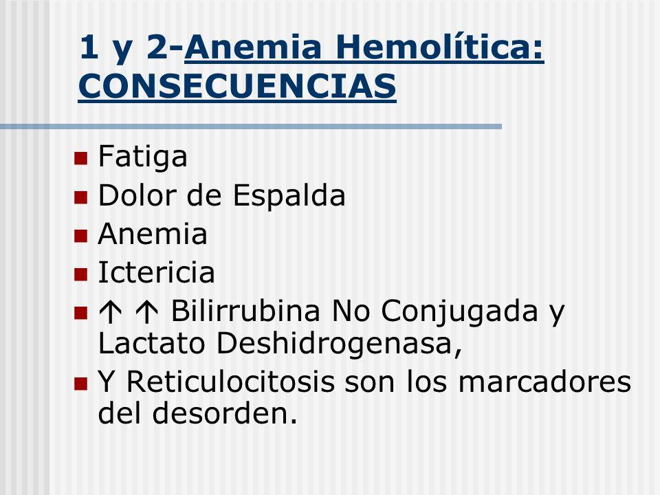 1 y 2-Anemia Hemolítica: CONSECUENCIAS